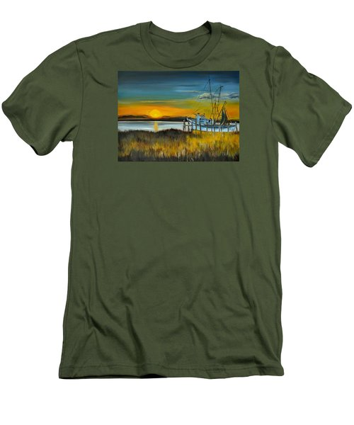 Men's T-Shirt (Slim Fit) featuring the painting Charleston Low Country by Lindsay Frost
