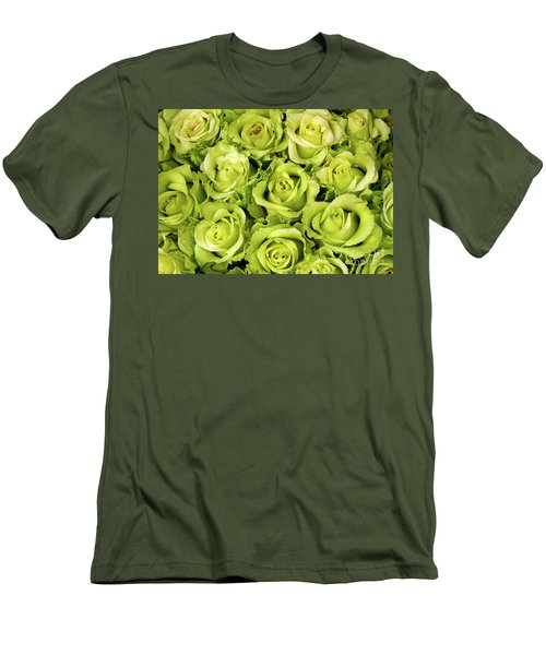Chartreuse Colored Roses Men's T-Shirt (Athletic Fit)