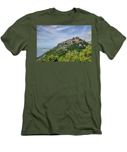Men's T-Shirt (Slim Fit) featuring the photograph Chateau D'eze On The Road To Monaco by Allen Sheffield