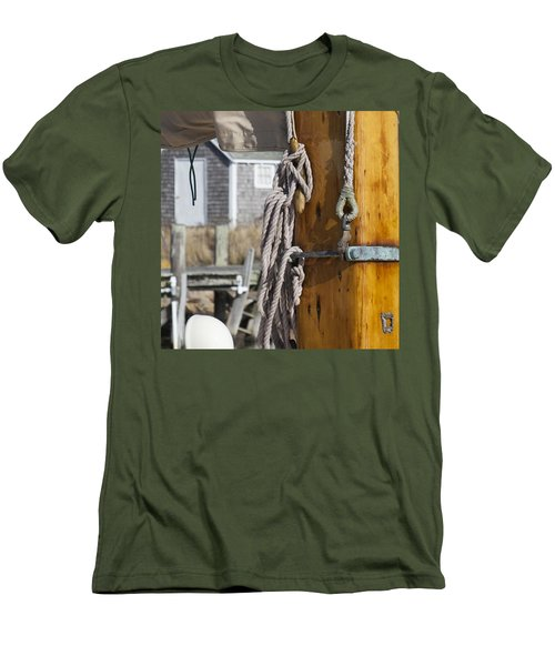 Men's T-Shirt (Slim Fit) featuring the photograph Chatham Old Salt by Charles Harden