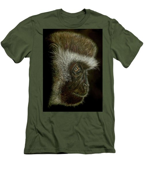 Cheeky Monkey Men's T-Shirt (Slim Fit) by Heidi Kriel