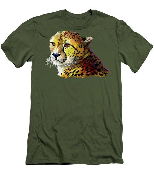 Cheetah Men's T-Shirt (Slim Fit) by Anthony Mwangi