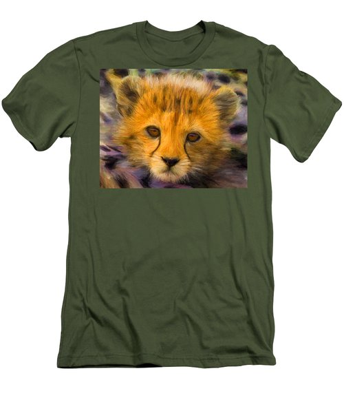 Cheetah Cub Men's T-Shirt (Slim Fit) by Caito Junqueira