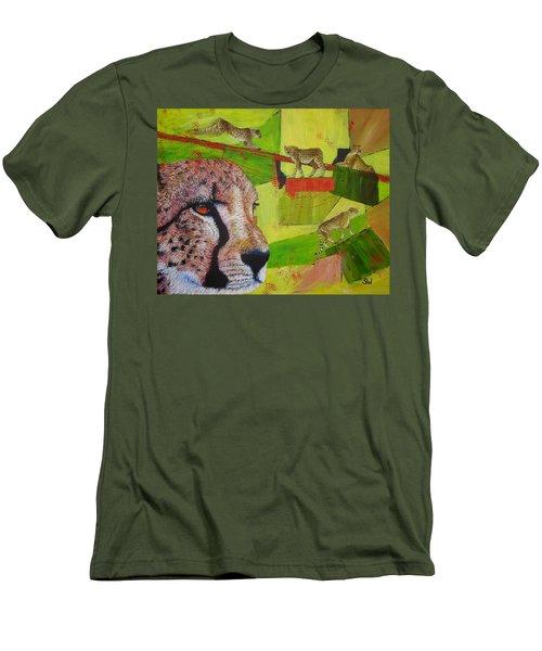 Cheetahs At Play Men's T-Shirt (Athletic Fit)