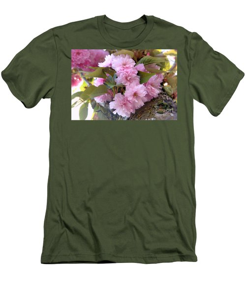Cherry Blossoms Nbr2 Men's T-Shirt (Slim Fit) by Scott Cameron