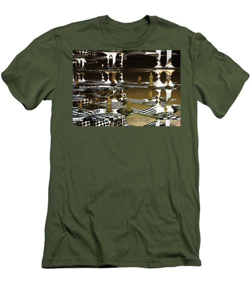 Chess Anyone Men's T-Shirt (Slim Fit) by Melissa Messick