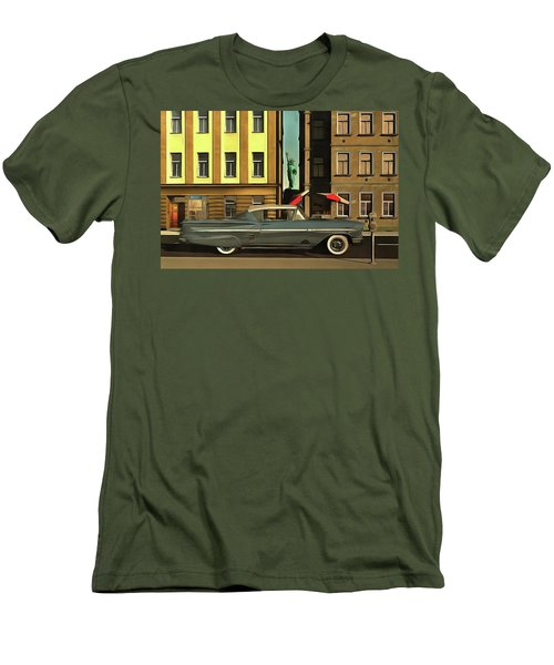 Chevrolette Impala At The Big Apple Men's T-Shirt (Athletic Fit)