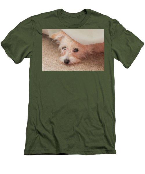 Chica In Hiding Men's T-Shirt (Slim Fit) by E Faithe Lester