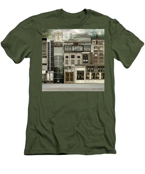 Chicago Reconstruction 2 Men's T-Shirt (Slim Fit) by Joan Ladendorf