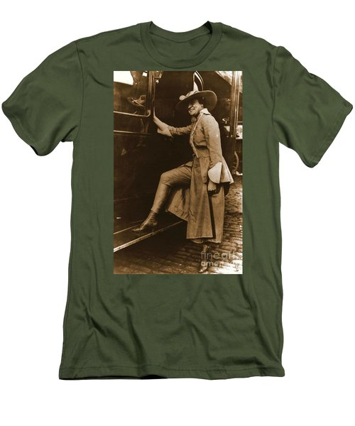 Chicago Suffragette Marching Costume Men's T-Shirt (Slim Fit) by Padre Art