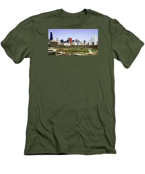 Chicago- The Windy City Men's T-Shirt (Slim Fit) by Ricky L Jones