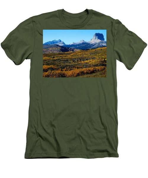Chief Mountain In The Fall Men's T-Shirt (Slim Fit)