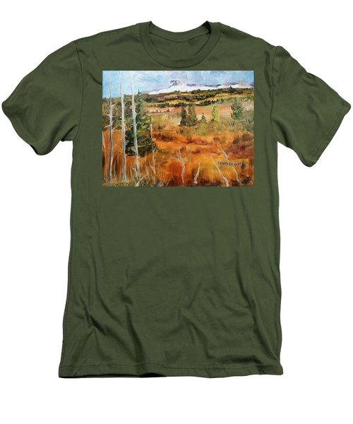 Chief Mountain Men's T-Shirt (Slim Fit) by Larry Hamilton