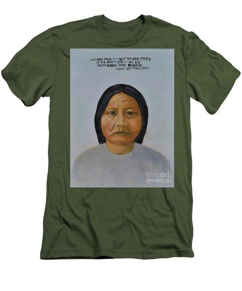 Chief Setting Bull Men's T-Shirt (Athletic Fit)
