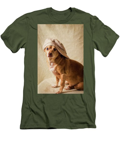 Chihuahua In A Newsboy Hat Men's T-Shirt (Athletic Fit)