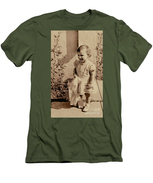 Men's T-Shirt (Slim Fit) featuring the photograph Child Of 1940s by Linda Phelps