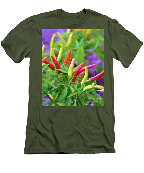Men's T-Shirt (Athletic Fit) featuring the photograph Chili Pepper Art by Kerri Farley