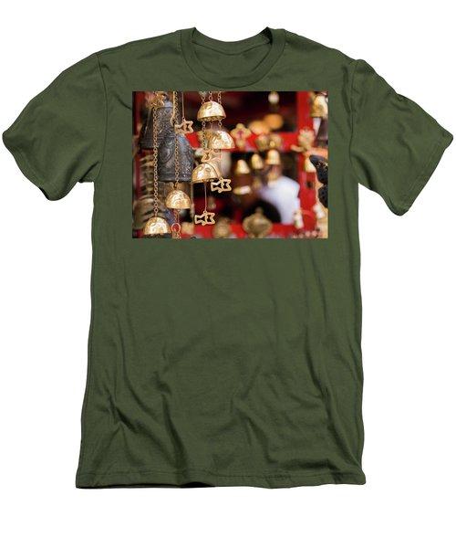 Chime Bell Men's T-Shirt (Slim Fit) by Hyuntae Kim