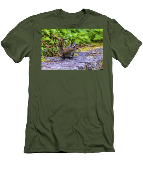 Men's T-Shirt (Athletic Fit) featuring the photograph Chipmunk by Jonny D