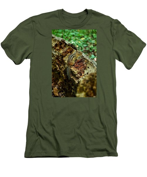 Men's T-Shirt (Slim Fit) featuring the photograph Chipmunk by Nikki McInnes