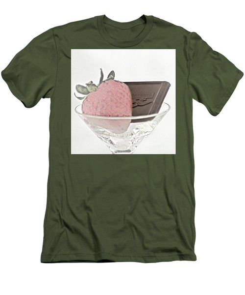 Chocolate And Strawberry Martini Men's T-Shirt (Athletic Fit)