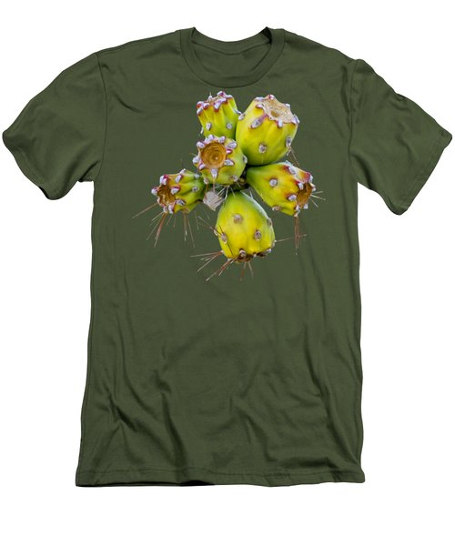 Men's T-Shirt (Athletic Fit) featuring the photograph Cholla Fruit S48 by Mark Myhaver