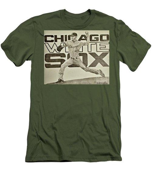 Chris Sale Men's T-Shirt (Slim Fit) by Melissa Goodrich