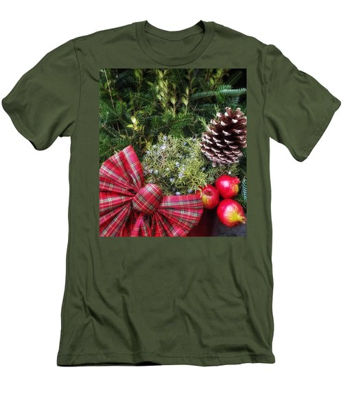 Christmas Arrangement Men's T-Shirt (Athletic Fit)