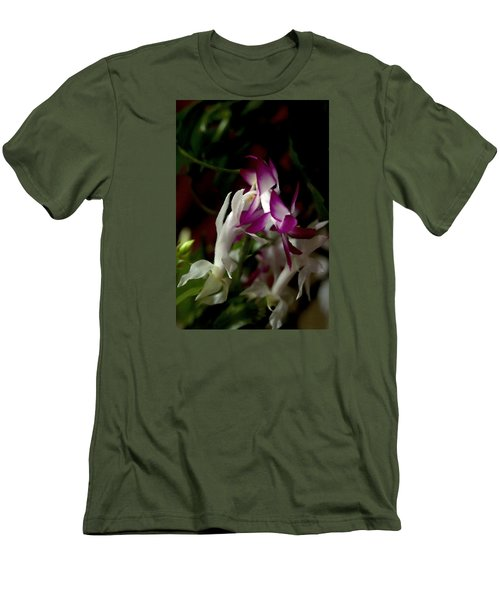 Men's T-Shirt (Slim Fit) featuring the photograph Christmas Cactus by B Wayne Mullins