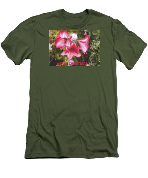 Christmas Card - Amorillis Men's T-Shirt (Athletic Fit)
