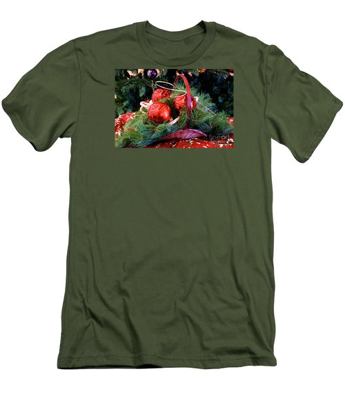 Men's T-Shirt (Slim Fit) featuring the photograph Christmas Centerpiece by Vinnie Oakes