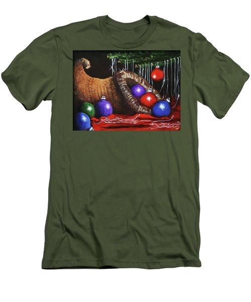 Christmas Colors Men's T-Shirt (Athletic Fit)