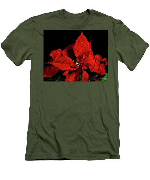 Christmas Fire Men's T-Shirt (Slim Fit) by Christopher Holmes