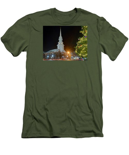 Christmas In Market Square Men's T-Shirt (Athletic Fit)