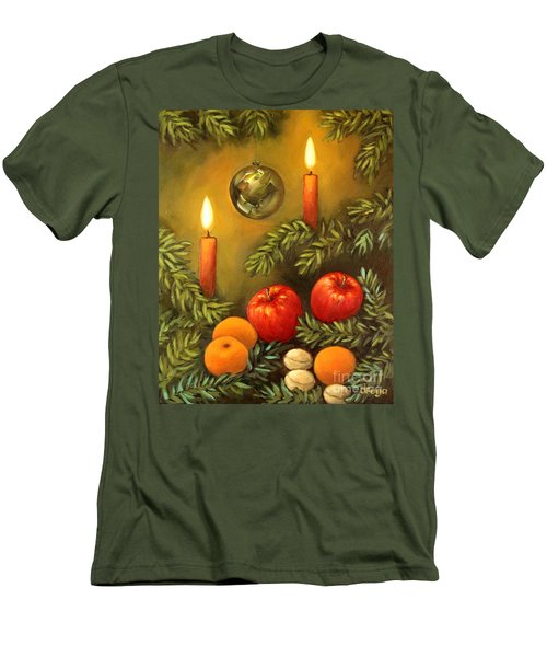 Christmas Lights Men's T-Shirt (Slim Fit) by Inese Poga