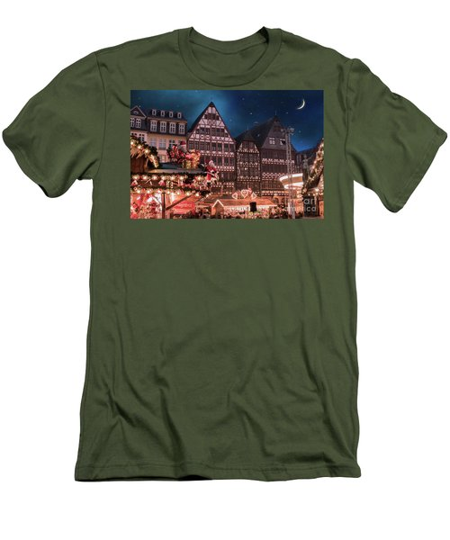 Men's T-Shirt (Slim Fit) featuring the photograph Christmas Market by Juli Scalzi