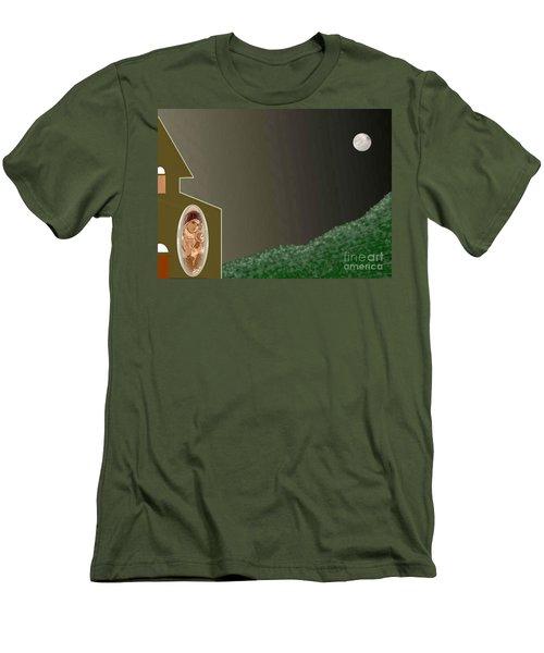 Christmas Moon Men's T-Shirt (Athletic Fit)