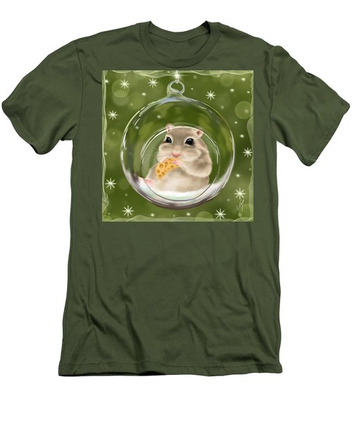 Men's T-Shirt (Slim Fit) featuring the painting Christmas Relax by Veronica Minozzi