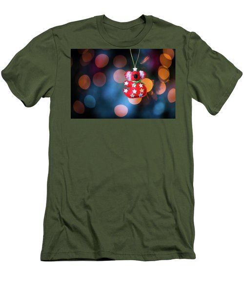 Christmas Tree Decoration With Bokeh Men's T-Shirt (Athletic Fit)