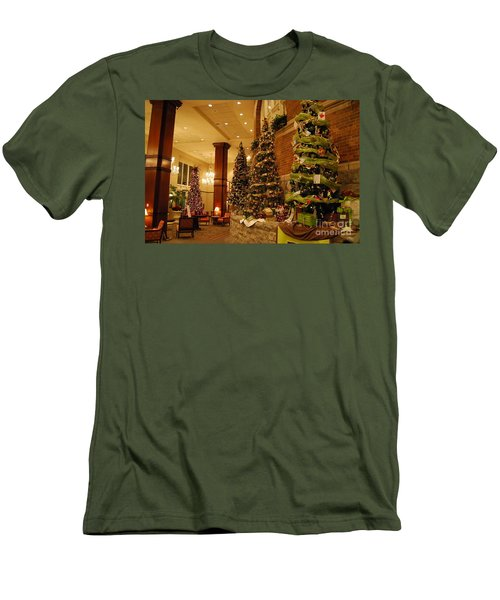 Men's T-Shirt (Slim Fit) featuring the photograph Christmas Tree by Eric Liller