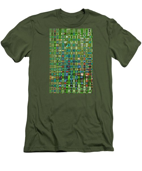 Men's T-Shirt (Slim Fit) featuring the photograph Chromosome 22 by Diane E Berry
