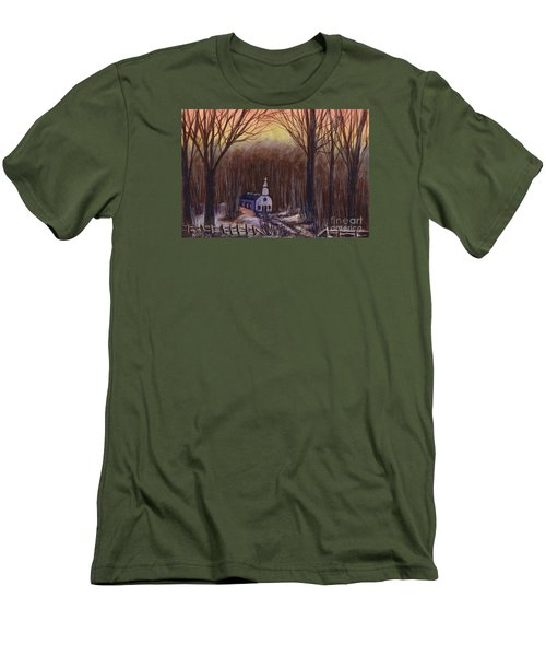 Church In The Woods  Men's T-Shirt (Athletic Fit)