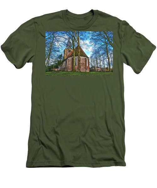 Church In Winsum Men's T-Shirt (Slim Fit) by Frans Blok