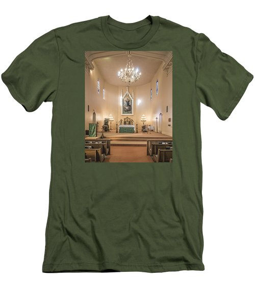 Men's T-Shirt (Slim Fit) featuring the photograph Church Of The Assumption Of The Blessed Virgin Altar by Andy Crawford