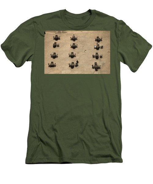 Cincinnati - Fountain Square Sepia Men's T-Shirt (Slim Fit) by Frank Romeo