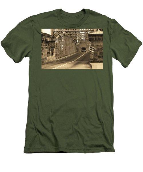 Cincinnati - Roebling Bridge 1 Sepia Men's T-Shirt (Slim Fit) by Frank Romeo