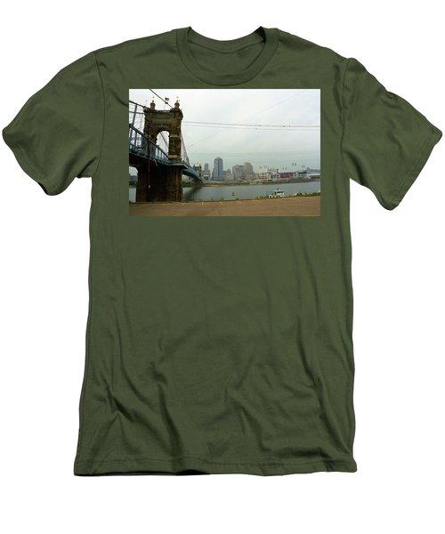 Cincinnati - Roebling Bridge 7 Men's T-Shirt (Slim Fit) by Frank Romeo