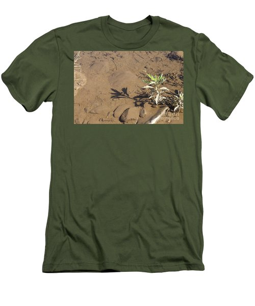 Men's T-Shirt (Athletic Fit) featuring the photograph Circle Shadow Plant by Marie Neder
