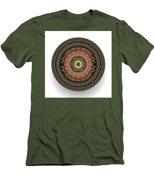 Men's T-Shirt (Slim Fit) featuring the digital art Circularium No 2645 by Alan Bennington