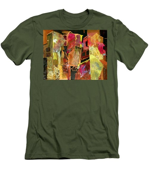 Men's T-Shirt (Slim Fit) featuring the painting City Colors by Rae Andrews